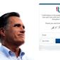 A telling phenomenon: Mitt Romney's old presidential campaign site is still active. (MittRomney.com)