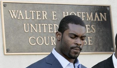 """Michael Vick - In July 2007, Vick and three other men were indicted on federal felony charges of operating an unlawful interstate dog fighting venture known as """"Bad Newz Kennels"""". Vick was accused of financing the operation, directly participating in dog fights and executions, and personally handling thousands of dollars in related gambling activities. In November 2008 Vick appeared before the Surry County Circuit Court. He submitted a guilty plea to a single Virginia felony charge for dog fighting, receiving a 3-year prison sentence suspended on condition of good behavior, and a $2,500 fine. In return for the plea agreement, the other charge was dropped. Michael Dwayne Vick, Federal Bureau of Prisons, was released on July 20, 2009.(AP Photo/Steve Helber)"""