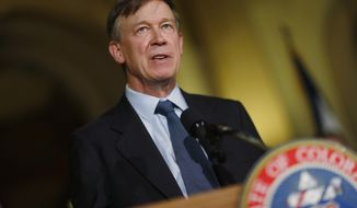 Colorado Gov. John HIckenlooper. **File  (AP Photo/David Zalubowski, file)