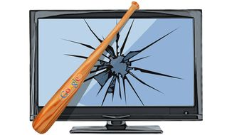 Google Attack on Local TV Illustration by Greg Groesch/The Washington Times