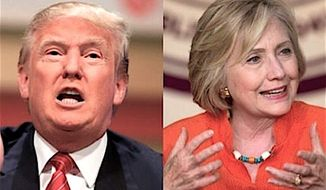 Likely presidential nominees Donald Trump and Hillary Clinton will be 168 miles apart on Tuesday, when both campaign in North Carolina. (Associated Press Photographs)