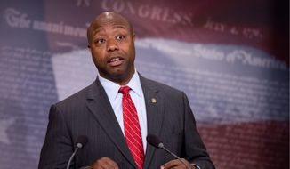 Sen. Tim Scott of South Carolina is among the many Republicans vexed by the outcome of Hillary Clinton's private email matter. (Associated Press)