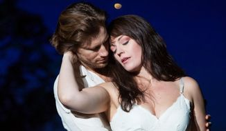 "Elizabeth Stanley and Andrew Samonsky in ""The Bridges of Madison County.""  (stylemagazine.com)"