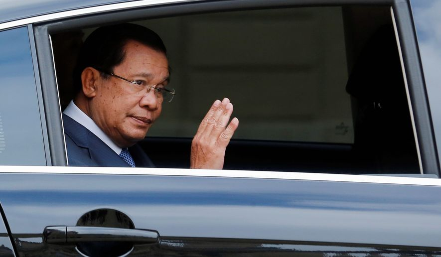 "London-based Global Witness charged that Cambodian Prime Minister Hun Sen's success at the polls is a result of ""electoral fraud and the brutal suppression of political opposition, including through murder, torture and arbitrary imprisonment."" (Associated Press)"