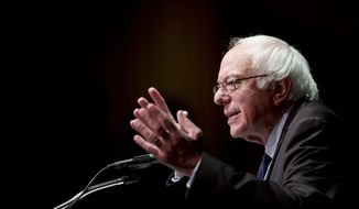 In this photo taken June 24, 2016, Democratic presidential candidate Sen. Bernie Sanders, I-Vt. speaks in Albany, N.Y. House Democrats are anxious to  know when Sen. Bernie Sanders will formally withdraw from the race for the Democratic presidential nomination. (AP Photo/Mike Groll) ** FILE **