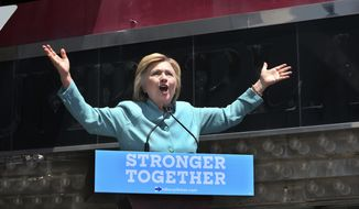 Democratic presidential candidate Hillary Clinton speaks on the Boardwalk  in Atlantic City, N.J.,Wednesday, July 6, 2016. (AP Photo/Mel Evans)