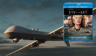 "A U.S. military Reaper drone co-stars in the film ""Eye in the Sky,"" available on Blu-ray from Universal Studios Home Entertainment."
