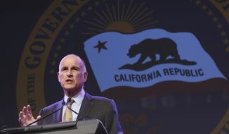 California Gov. Jerry Brown in a May 18, 2016 file photo.  (AP Photo/Rich Pedroncelli, File) **FILE**