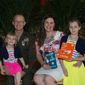 The Harth family (from left, Alexandra Harth, 5, Marines Corps. Sgt. Patrick Harth, 35, Natasha Harth, 34, and Justice Harth, 9) attended United Through Reading's Tribute to Military Families in Washington D.C on May 25, 2016. (Photo by United Through Reading).