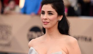 In this Jan. 30, 2016, file photo, Sarah Silverman arrives at the 22nd annual Screen Actors Guild Awards at the Shrine Auditorium & Expo Hall in Los Angeles. Silverman said in a Facebook post on July 7, 2016, she underwent surgery recently for epiglottitis and spent a week in the intensive care unit. (Photo by Jordan Strauss/Invision/AP, File)
