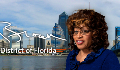 Rep. Corrine Brown, Florida Democrat, was indicted on July 8 by a federal grand jury for wire fraud. She is depicted her from a screen capture from her official House.gov website, accessed July 8, 2016.