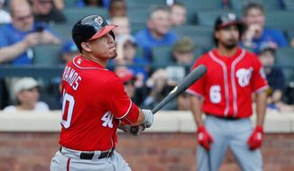 The Washington Nationals' Wilson Ramos leads major-league catchers in batting average and on-base percentage. Ramos has appeared in more games than any other catcher in the National League, except for St. Louis' Yadier Molina. (Associated Press) **FILE**