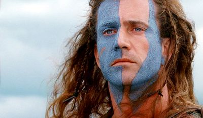 Sir William Wallace was a Scottish knight who became one of the main leaders during the Wars of Scottish Independence. A well-known account of Wallace's life is presented in the film Braveheart (1995), directed by and starring Mel Gibson as Wallace