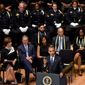President Obama speech at an interfaith memorial service for the fallen police officers and members of the Dallas community was well received by law enforcement leaders. (Associated Press)