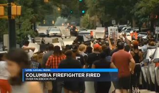 """Columbia Fire Department Capt. Jimmy Morris was terminated Monday for threatening on social media to """"run over"""" Black Lives Matter protesters. (WIS-TV)"""