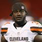 Cleveland Browns running back Isaiah Crowell apologized for posting a graphic on Instagram that depicts the brutal killing of a police officer. (Associated Press)