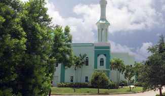 The Islamic Center of Boca Raton, Fla.,  is shown on Wednesday, July 13, 2016. Palm Beach County Elections Supervisor Susan Bucher disinvited the Islamic Center of Boca Raton as a polling center for the Aug. 30 Florida primary and the Nov. 8 general election after she received 50 complaints, including threats of violence, from people who don't want to vote in a mosque. (AP Photo/Terry Spencer)