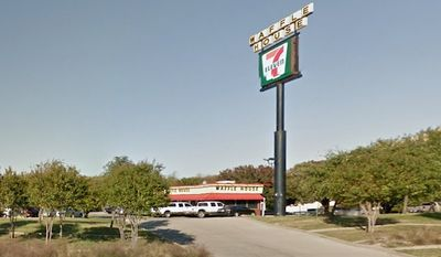 A suspected armed robber is on life support after he was shot several times by a concealed carrier at Waffle House in DeSoto, Texas. (Google Maps)