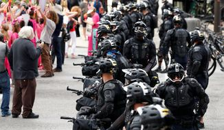 Police presence in Cleveland for the Republican National Convention is expected to be sizable amid security concerns and fears that standoffs between pro- and anti-Trump factions may turn violent. (Associated Press)