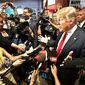 A conservative media watchdog says the media is poised to blast GOP nominee Donald Trump and the Republican National Convention. (Associated Press)