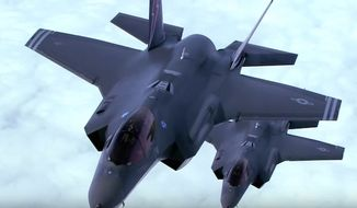 The F-35 Lightning II may soon be heading to Syria and Iraq to take on the Islamic State group. (Youtube, Lockheed Martin) ** FILE **