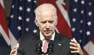 U.S. Vice President Joe Biden delivers a major policy speech at the Paddington Town Hall in Sydney, Australia, Wednesday, July 20, 2016. Biden was in Australia as part of a tour of the Pacific. (AP Photo/Rob Griffith) ** FILE **