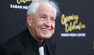 Garry Marshall arrives at the Television Academy's 70th Anniversary at The Television Academy on Thursday, June 2, 2016, in Los Angeles. (Photo by Rich Fury/Invision/AP)