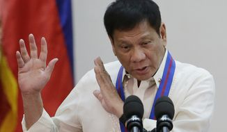 "The most dramatic repudiation of the deal came Monday from Philippines President Rodrigo Duterte, elected in November, who said that he ""will not honor"" the proposed restrictions on emissions, calling them ""stupid"" and citing his country's need for greater economic development and industrialization. (Associated Press)"