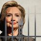 Hillary Dodging Prison Illustration by Greg Groesch/The Washington Times