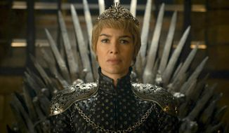 """In this image released by HBO, Lena Headey appears in a scene from """"Game of Thrones."""" This week's Comic Con  extravaganza is expected to draw more than 160,000 fans for high-energy sessions featuring casts and crews from such films and TV shows as """"Game of Thrones,"""" """"Star Trek,"""" """"Suicide Squad,"""" """"South Park,"""" """"Teen Wolf,"""" """"Aliens"""" and """"The Walking Dead."""" (HBO via AP)"""
