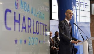 NBA Commissioner Adam Silver previously threatened to pull the All-Star Game if HB2 was not repealed. The league said the law discriminates against transgender people who wish to use the intimate facilities of the opposite sex. (Associated Press)