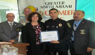 North Miami Police have identified Jonathan Aledda as the officer accused of shooting therapist Charles Kinsey. (North Miami Chamber of Commerce) ** FILE **