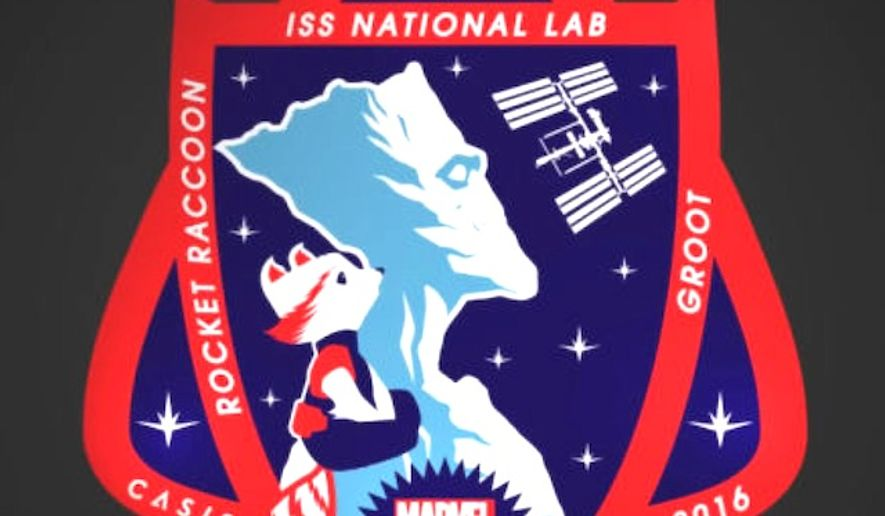Marvel characters Groot and Rocket Raccoon will appear on a new patch for the Advancement of Science in Space (CASIS). (YouTube, CASIS)