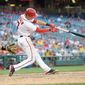 The Washington Nationals' Trea Turner, in a small sample, is hitting .350 against left-handers in the major leagues, which is distinctly better than teammate Ben Revere. Platooning with Revere in center field may be an option for the Nationals. (Associated Press)