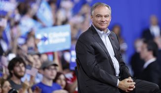Vice presidental nominee Sen. Tim Kaine predicted that House Republicans, who stopped President Obama's last bid for legalization in 2013, will reverse themselves next year and said House Speaker Paul D. Ryan will lead the GOP to embrace legalization. (Associated Press)