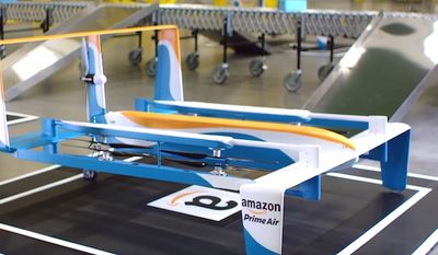 Amazon announced a deal with the British government on Monday, July 25, 2016, to begin testing its delivery drones. (YouTube, Amazon)