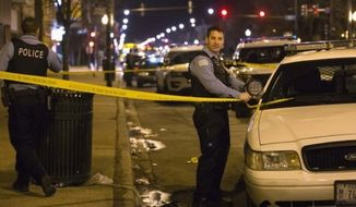 A new study by the Injury Prevention and Research Center at the Lurie Children's Hospital of Chicago shows the homicide rate among black Chicagoans skyrocketed from 2005 to 2015. (Associated Press) **FILE**