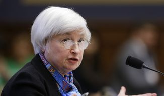 Federal Reserve Chair Janet Yellen testifies on Capitol Hill in Washington, before the House Financial Services Committee hearing on U.S. monetary policy. (AP Photo/Manuel Balce Ceneta, File)