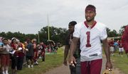 Washington Redskins wide receiver DeSean Jackson, walks from the field during the NFL football team's minicamp at the Redskins Park in Ashburn, Va., Wednesday, June 15, 2016. (AP Photo/Manuel Balce Ceneta)