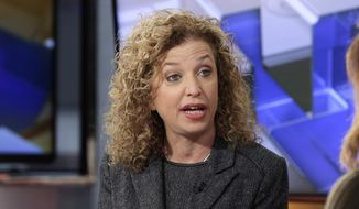 In this March 21, 2016, file photo, then-Democratic National Committee (DNC) Chair, Rep. Debbie Wasserman Schultz, D-Fla., is interviewed in New York. The computers of the House Democratic campaign committee have been hacked in an intrusion that investigators say resembles the recent cyber breach of the Democratic National Committee, a spokeswoman for the committee said Friday, July 29, 2016. As a result of that disclosure Wasserman Schultz announced her resignation this week. (AP Photo/Richard Drew, File)