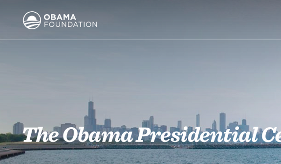 Screen capture from official website for the Barack Obama Foundation. Accessed July 30, 2016.