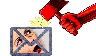 Russians Hack Hillary Illustration by Greg Groesch/The Washington Times