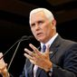 Republican vice presidential nominee Mike Pence is hitting the campaign trail, partly to counter criticisms of Donald Trump. (Associated Press)