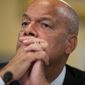 Homeland Security Secretary Jeh Johnson said it's too early to determine who was responsible for the hack of the Democratic National Committee's emails. (Associated Press)