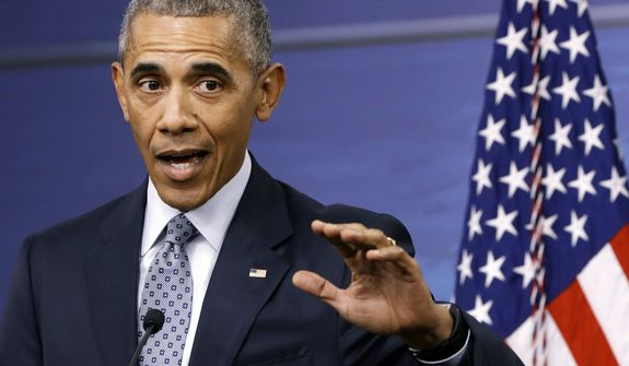 President Barack Obama answers a question during a news conference after attending a National Security Council Meeting on efforts to counter the Islamic State, Thursday, Aug. 4, 2016, at the Pentagon in Washington. (AP Photo/Jacquelyn Martin)