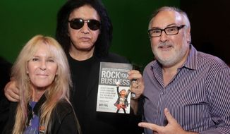 David Fishof with Gene Simmons of KISS and Lita Ford of The Runaways.  (rockcamp.com)