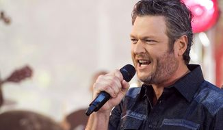 "Blake Shelton performs on NBC's ""Today"" show at Rockefeller Plaza on Friday, Aug. 5, 2016, in New York. (Photo by Charles Sykes/Invision/AP)"