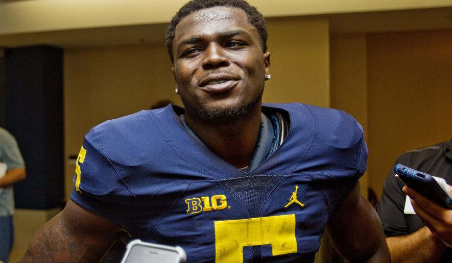 Michigan Safety Jabrill Peppers Speaks To Reporters During