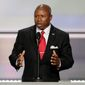 Darryl Glenn, Republican candidate for U.S. Senate from Colorado, has been accused of lying about his past, based on a 1983 incident in which he was charged by Colorado Springs police with hitting his father. The charge was ultimately dropped. (Associated Press)