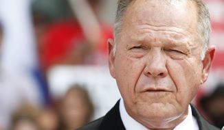 The Court of the Judiciary on Monday denied Roy Moore's request to dismiss the complaint that he violated ethical standards for judges with a January memo to probate judges regarding same-sex marriage. (Associated Press)